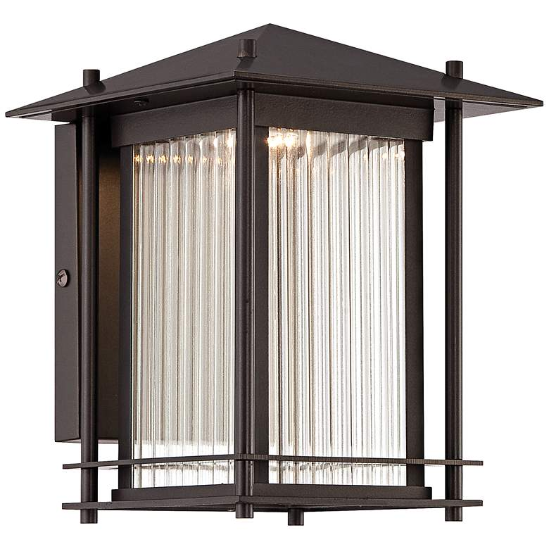 """Hadley 9"""" High Burnished Bronze LED Outdoor Wall Light"""