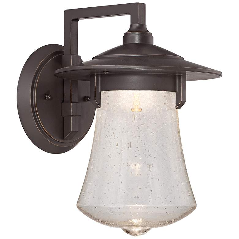 """Paxton 11"""" High Aged Bronze Patina LED Outdoor Wall Light"""