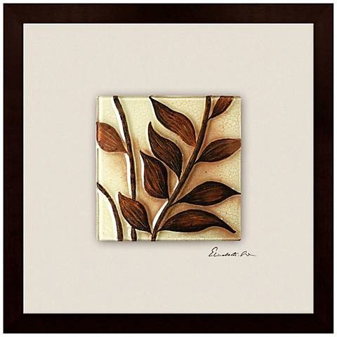 "Twigs II 22"" Square Canvas Wall Art"
