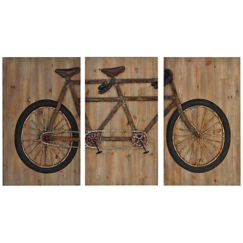 "Tandem 28"" Wide Wall Plaque"