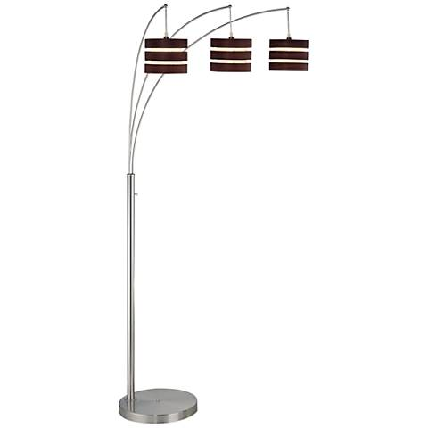 Lite Source Matia Polished Steel 3-Light Arc Floor Lamp