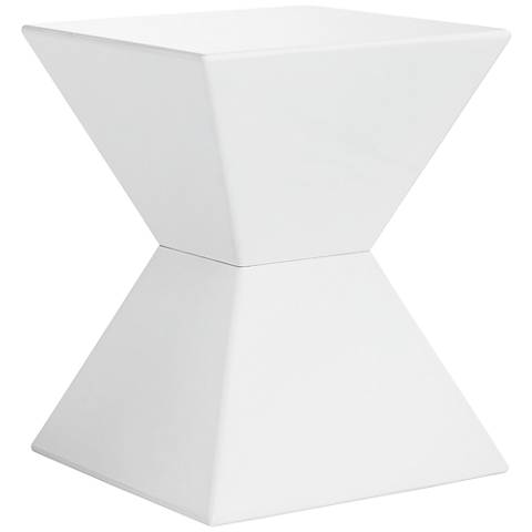 Rocco Modern White End Table