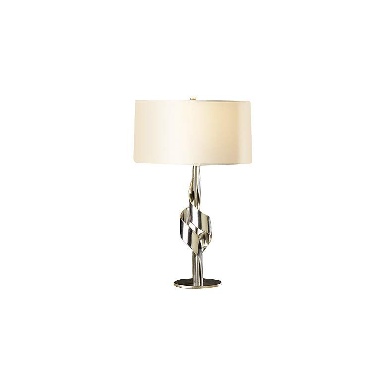 Hubbardton Forge Flux Vintage Platinum Table Lamp