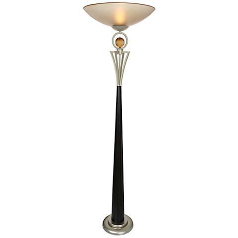 "Van Teal Anniversary Cafe Noir 73"" High Torchiere Floor Lamp"