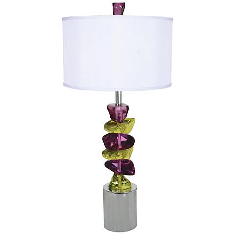 Van Teal Rock of Ages Stacked Acrylic Stone Table Lamp
