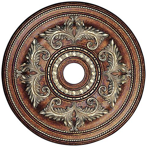 "Pascola 30 1/2"" Wide Palatial Bronze Ceiling Medallion"