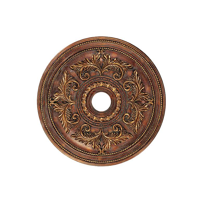 "Pascola 30 1/2"" Wide Greek Bronze Ceiling Medallion"