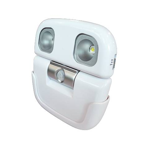White Battery Powered LED Motion Sensor Security Light
