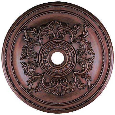 "Pascola 40 1/2"" Wide Imperial Bronze Ceiling Medallion"
