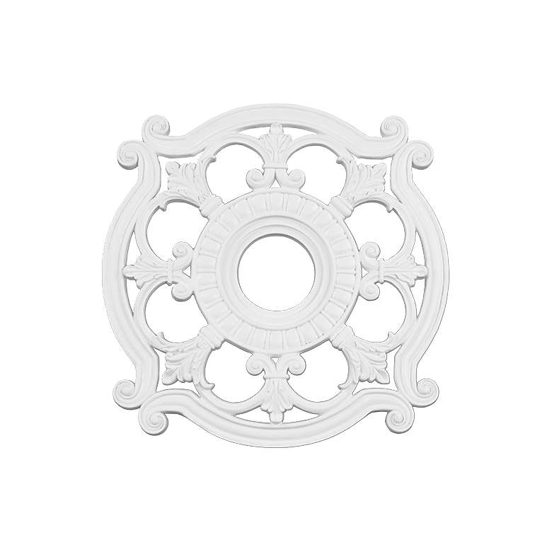 """Lavonia 23 1/2"""" Wide White Ceiling Medallion"""