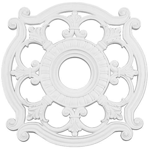 "Lavonia 23 1/2"" Wide White Ceiling Medallion"