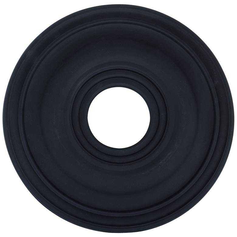 "Perryton 16"" Wide Black Ceiling Medallion"