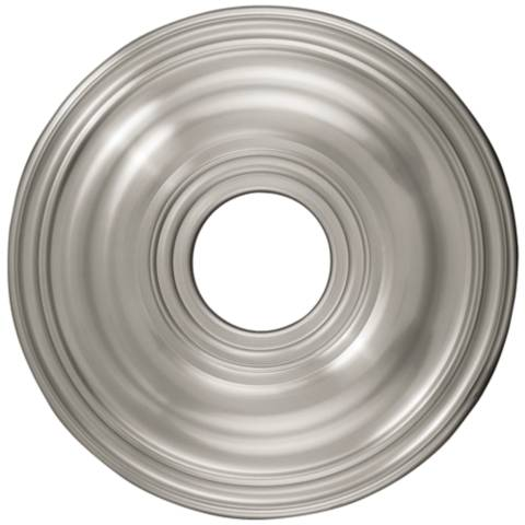 Perryton 16 Quot Wide Brushed Nickel Ceiling Medallion