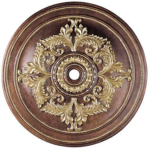 "Pascola 60"" Wide Palatial Bronze Ceiling Medallion"