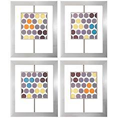 """Marquee Lights 25"""" 4-Piece Wall Art Set"""