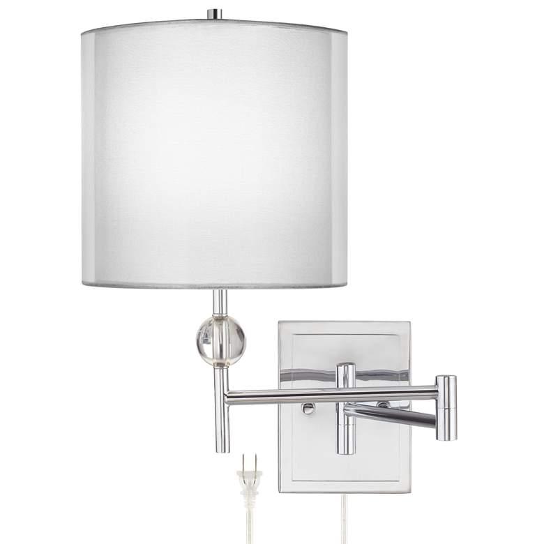 Kohle Chrome and Acrylic Ball Swing Arm Wall Lamp