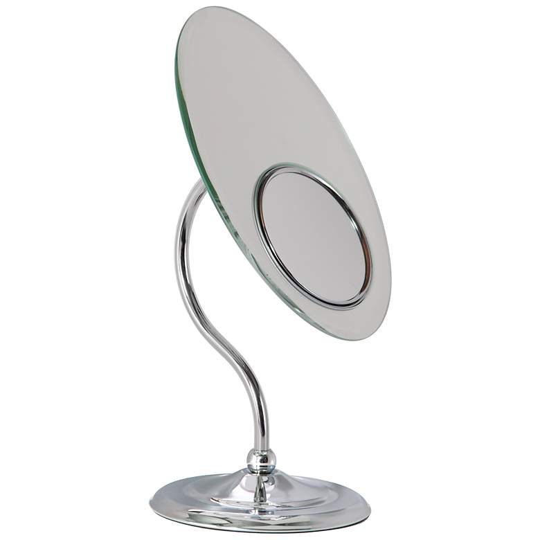 Chrome S-Neck Dual-Sided Magnified Makeup Mirror