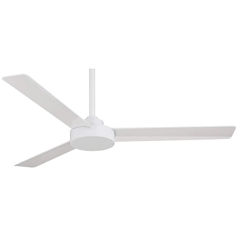 "52"" Minka Aire Roto Flat White Ceiling Fan"