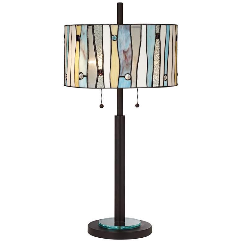 Appalachian Spirit Tiffany Style Glass Table Lamp