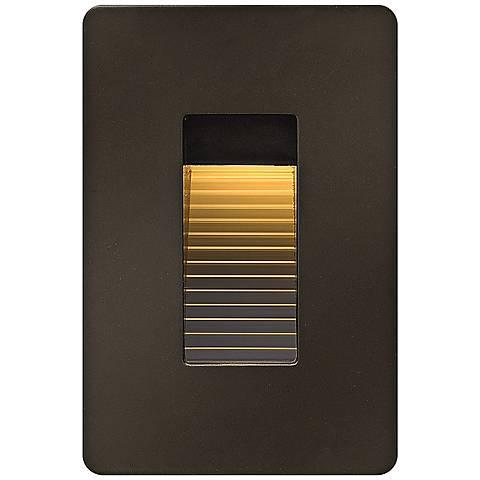 """Hinkley Luna 4 1/2"""" High Bronze LED Step Light"""