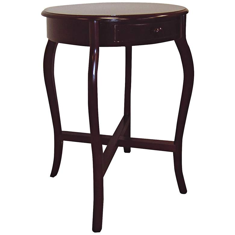 "Aker 20"" Wide Cherry Round Traditional End Table"