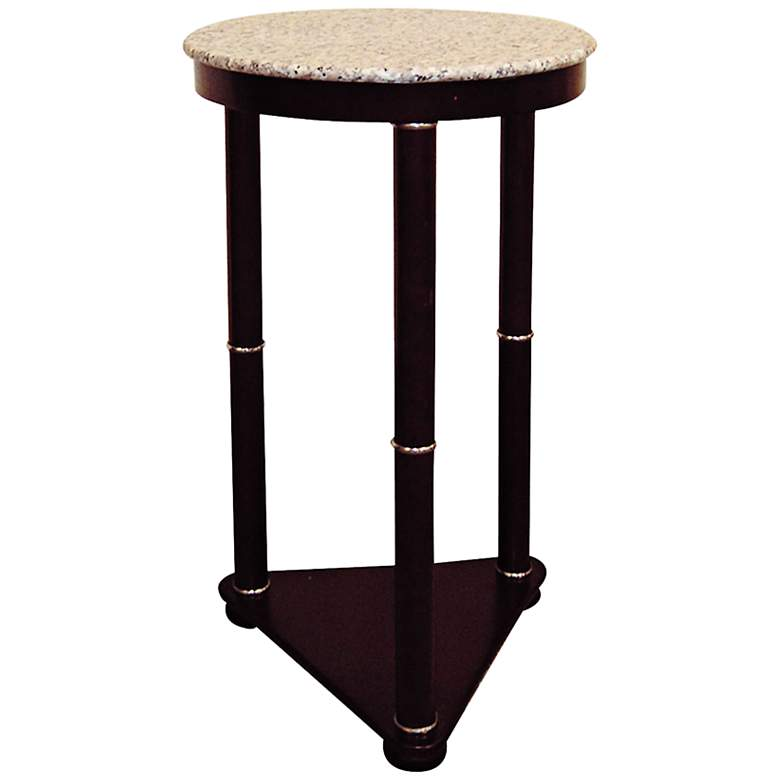 """Balles 11 1/2"""" Wide Faux Marble Top Round End Table"""