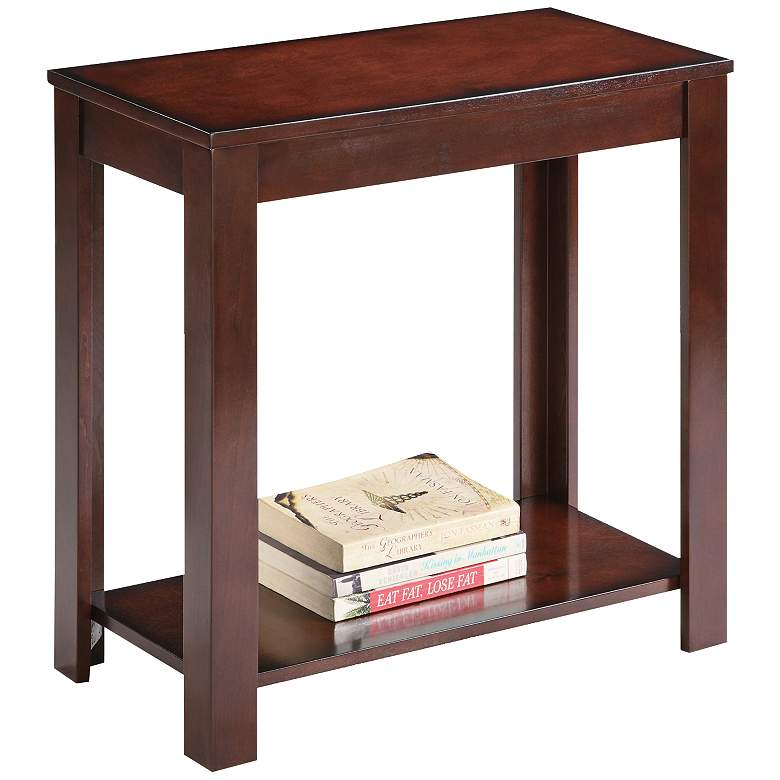 "Astet 24"" Wide Dark Cherry Traditional Side Table"