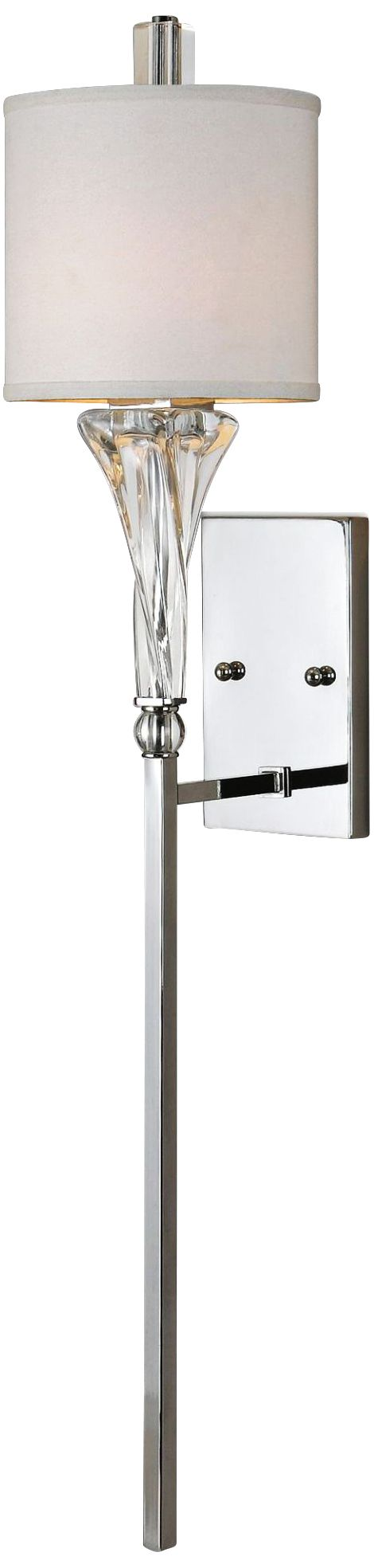uttermost grancona 46   high polished chrome wall sconce uttermost contemporary sconces   lamps plus  rh   lampsplus