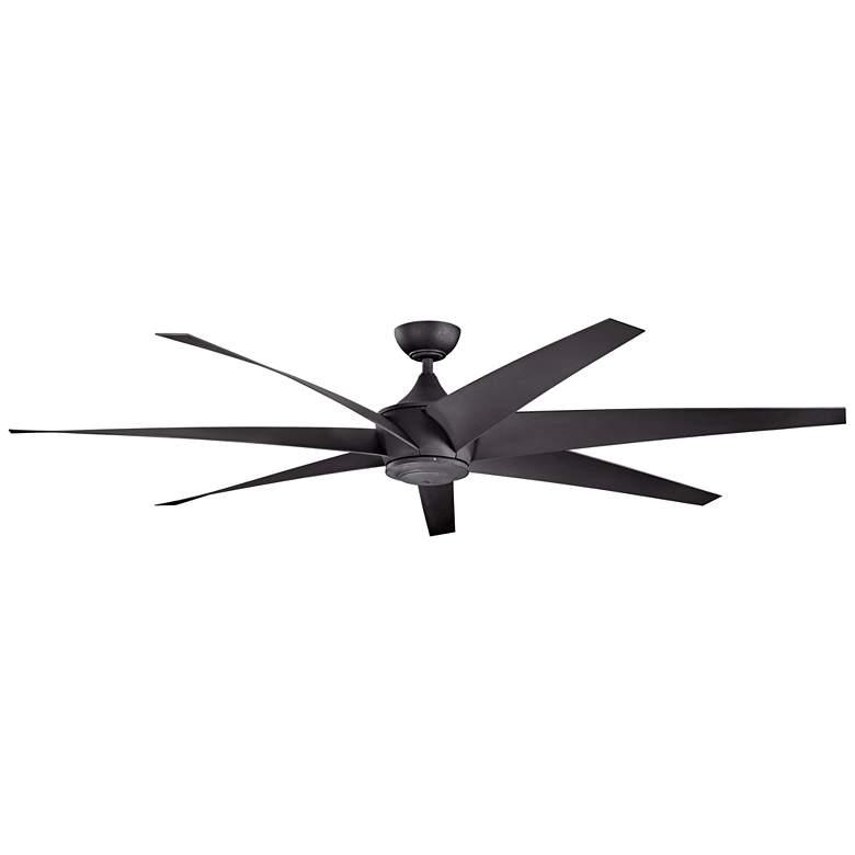 "80"" Kichler Lehr Climates Black Finish Modern Outdoor Ceiling Fan"