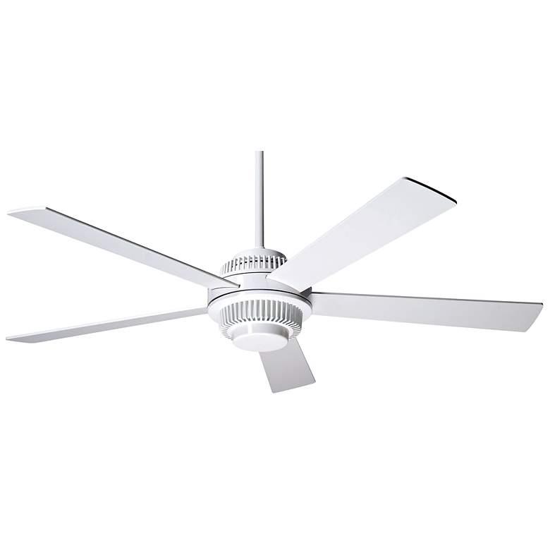 """52"""" Modern Fan Solus Gloss White Ceiling Fan"""