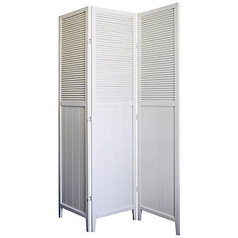 Bevington White Shutter Door 3-Panel Room Divider