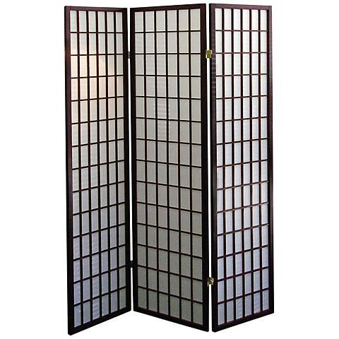 Tomball Japanese-Inspired Cherry 3-Panel Room Divider