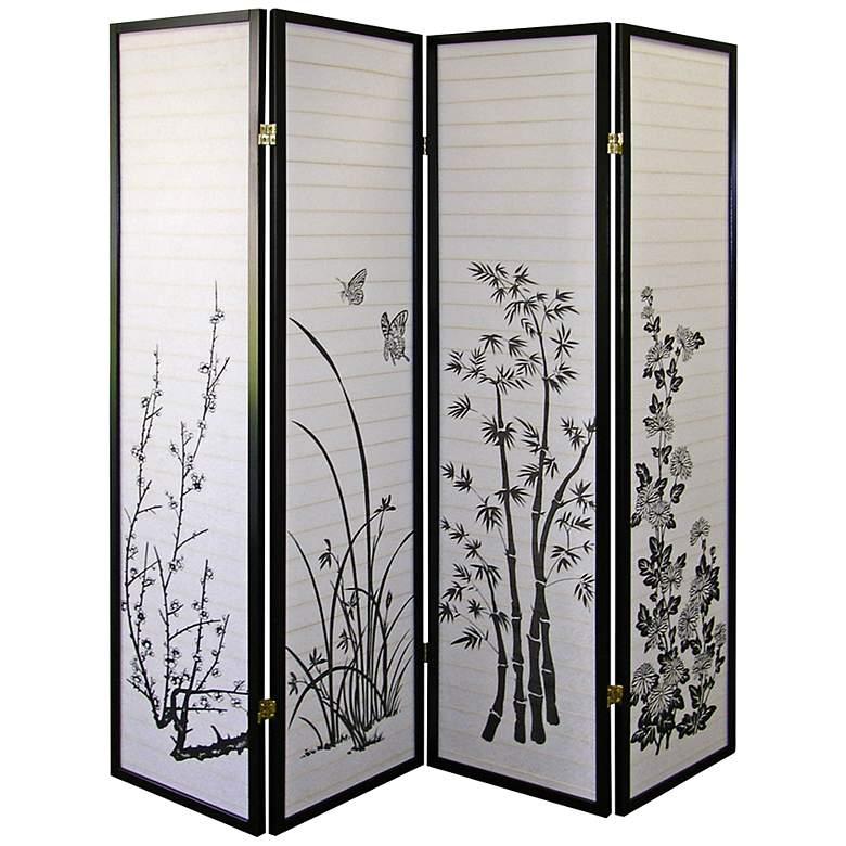 "Shoji Paper 60"" wide 4-Panel Room Screen Divider"