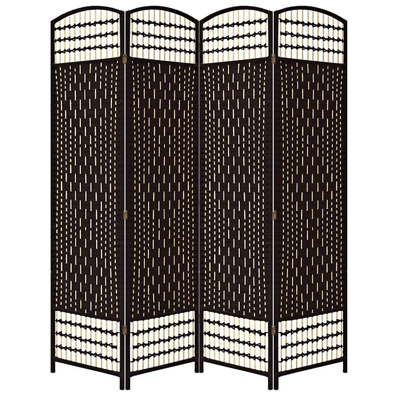 "Rosenthal 63 1/4"" Wide Hand-Crafted Paper Weave Room Divider"