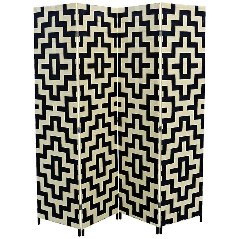 "Anastasia 70 1/2"" Wide Paper Weave 4-Panel Room Divider"