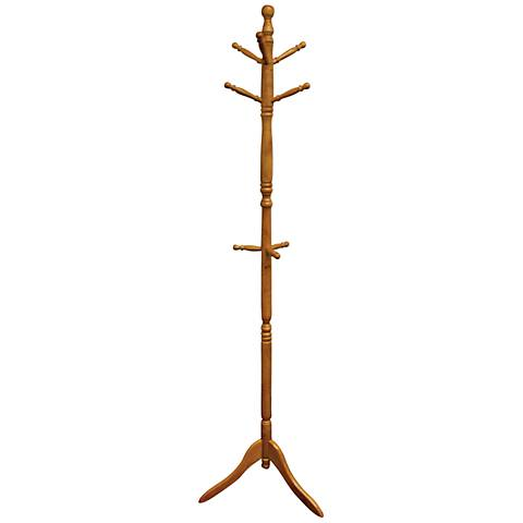 Riccio Natural Oak Swiveling Coat Rack
