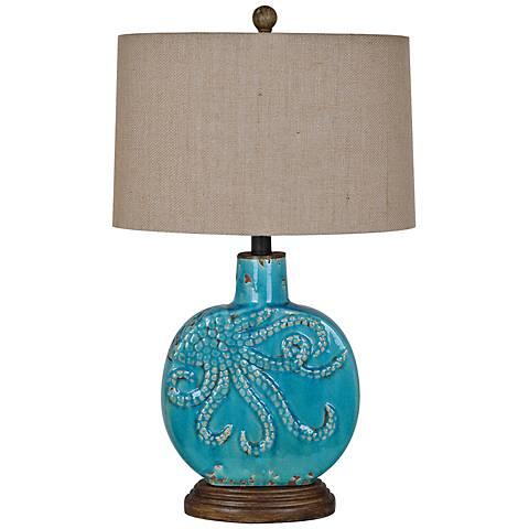 Crestview Collection Deep Ocean Table Lamp