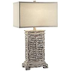 Crestview collection table lamps lamps plus crestview collection antique shutter table lamp aloadofball Image collections