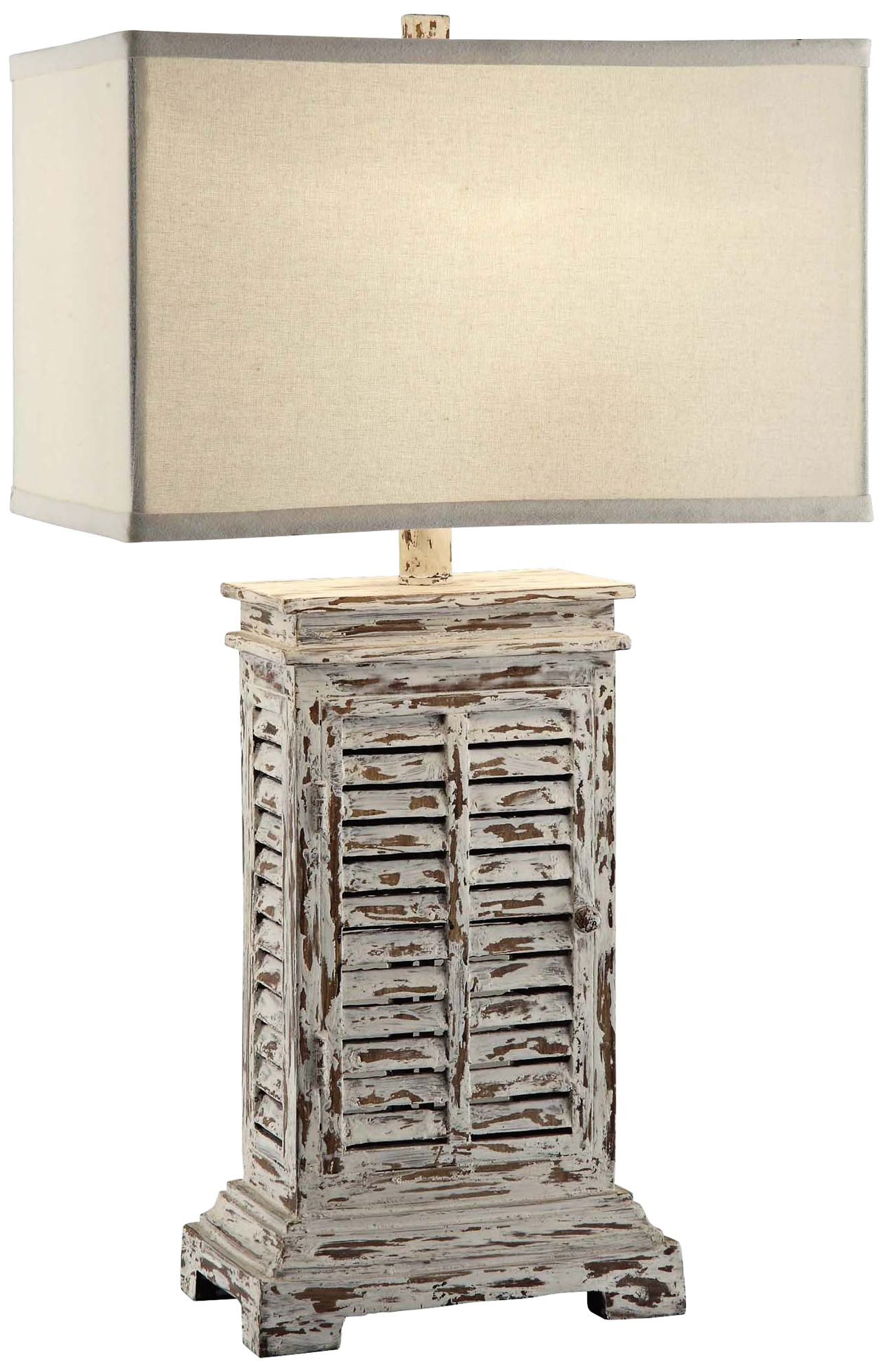 Good Crestview Collection Antique Shutter Table Lamp