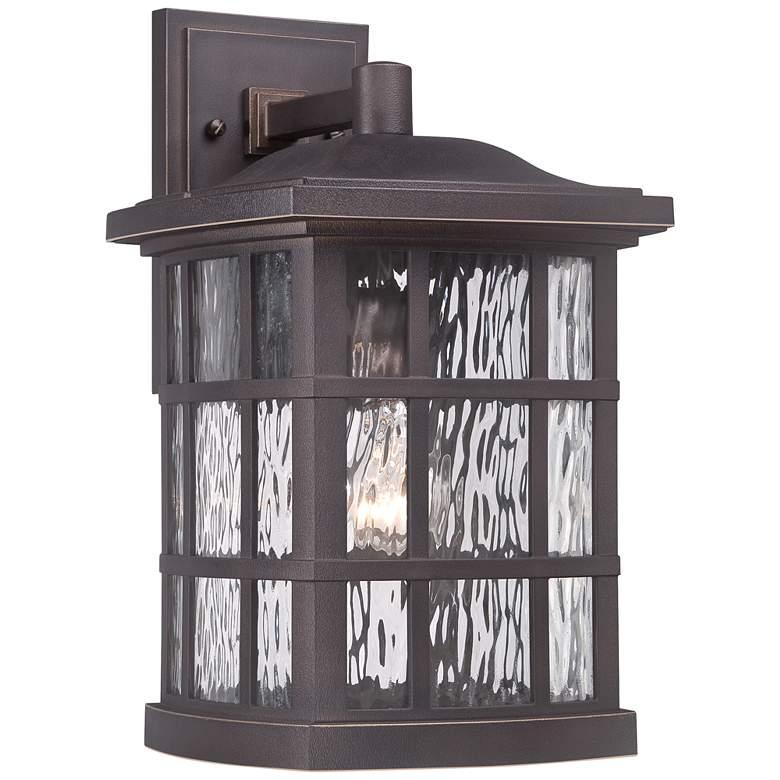 "Quoizel Stonington 15 1/2"" High Bronze Outdoor Wall Light"