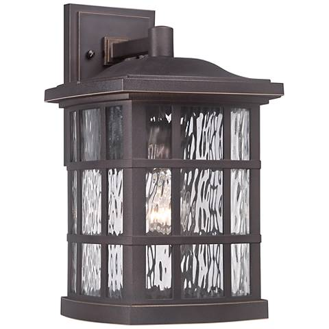 "Quoizel Stonington 15 1/2"" High Bronze Outdoor Wall Light"