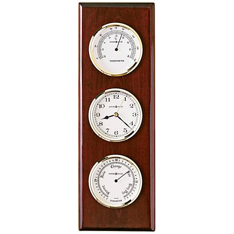 "Howard Miller Shore Station Cherry 15"" High Wall Clock"