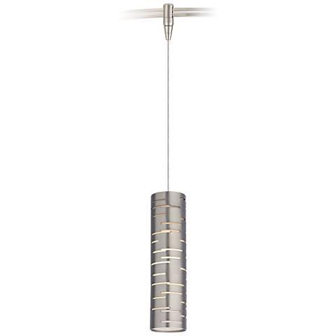 "Revel 2 1/2"" Wide Satin Nickel LED Monorail Mini Pendant"