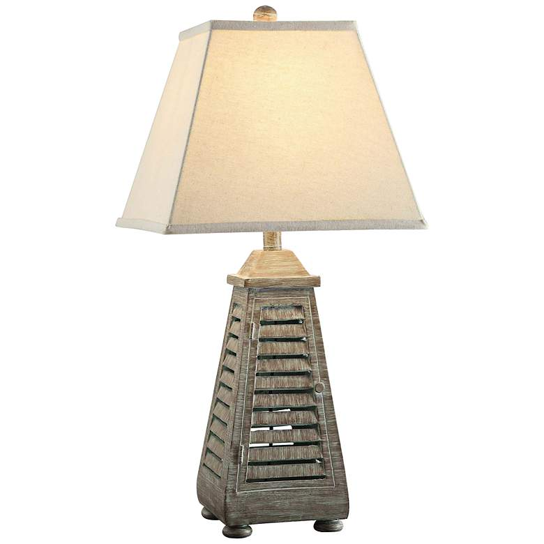 Crestview Collection Shutter Tower Night Light Table Lamp
