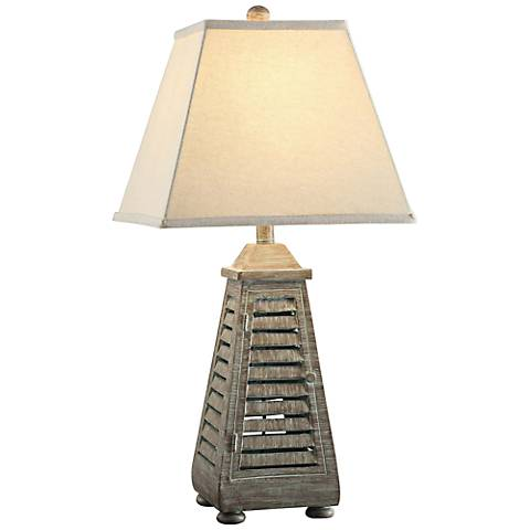 Crestview Collection Shutter Tower Table Lamp