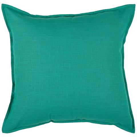 "Vibrant Turquoise 20"" Square Throw Pillow"