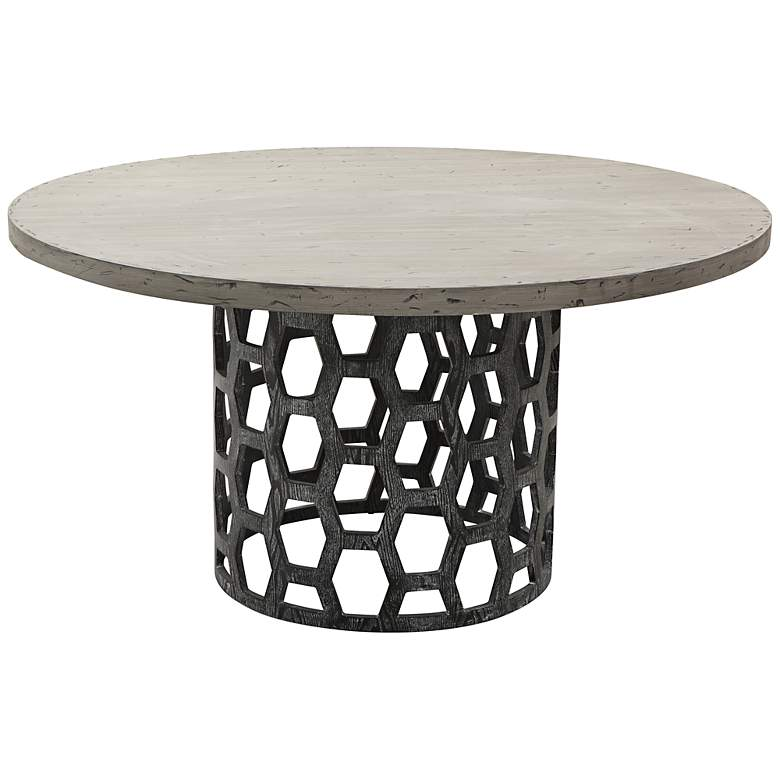 Centennial Gray Honeycomb Dining Table