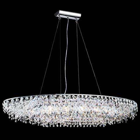 "James R. Moder 40"" Wide Continental Oval Crystal Chandelier"