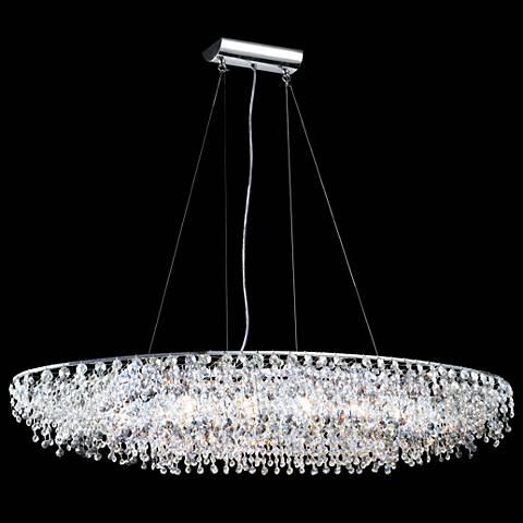 James r moder 40 wide continental oval crystal chandelier 6k448 james r moder 40 wide continental oval crystal chandelier mozeypictures Images