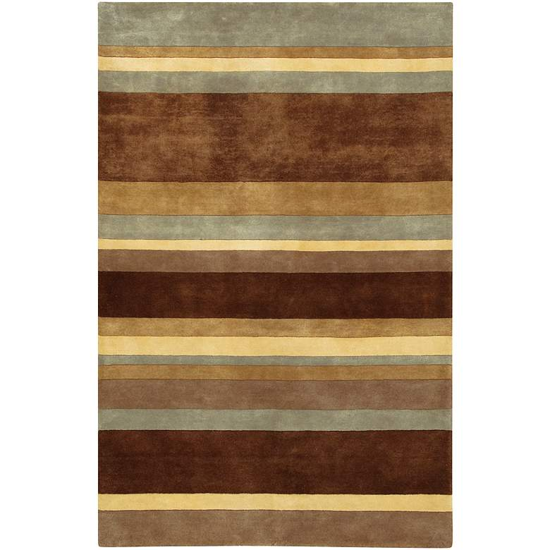 "Chandra Antara ANT106 5'x7'6"" Striped Wool Area Rug"